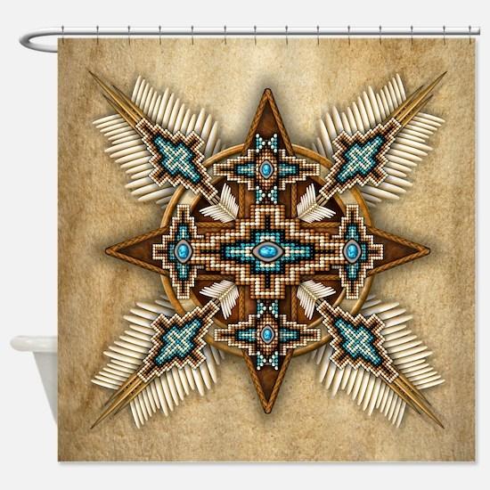 Native American Style Mandala 26 Shower Curtain