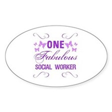 One Fabulous Social Worker Decal