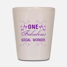 One Fabulous Social Worker Shot Glass