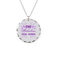 One Fabulous Social Worker Necklace