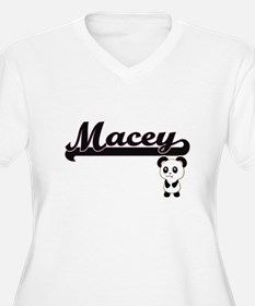 Macey Classic Retro Name Design Plus Size T-Shirt