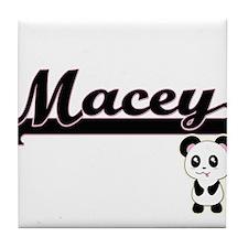 Macey Classic Retro Name Design with Tile Coaster