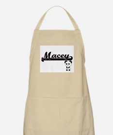Macey Classic Retro Name Design with Panda Apron