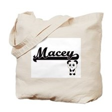 Macey Classic Retro Name Design with Pand Tote Bag