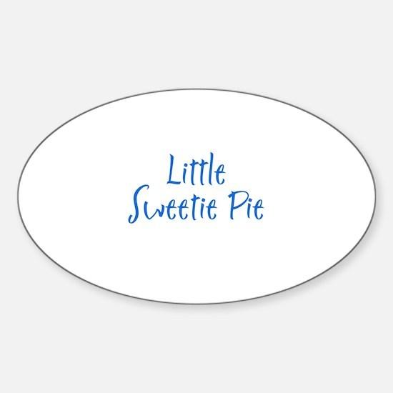 Little Sweetie Pie Oval Decal