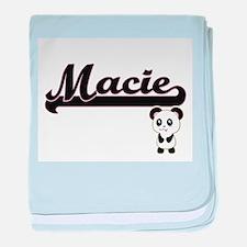 Macie Classic Retro Name Design with baby blanket