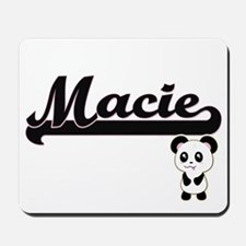 Macie Classic Retro Name Design with Pan Mousepad