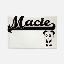 Macie Classic Retro Name Design with Panda Magnets