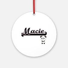 Macie Classic Retro Name Design w Ornament (Round)