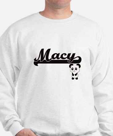 Macy Classic Retro Name Design with Pan Sweater
