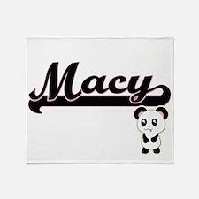 Macy Classic Retro Name Design with Throw Blanket