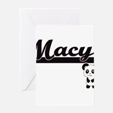 Macy Classic Retro Name Design with Greeting Cards