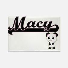 Macy Classic Retro Name Design with Panda Magnets