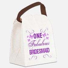 One Fabulous Bridesmaid Canvas Lunch Bag