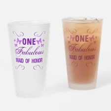 One Fabulous Maid Of Honor Drinking Glass