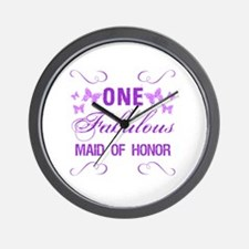 One Fabulous Maid Of Honor Wall Clock