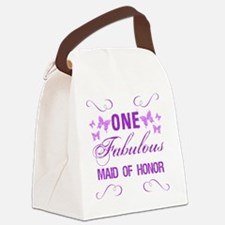 One Fabulous Maid Of Honor Canvas Lunch Bag