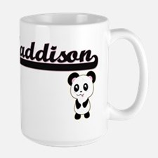 Maddison Classic Retro Name Design with Panda Mugs