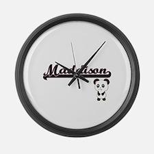 Maddison Classic Retro Name Desig Large Wall Clock