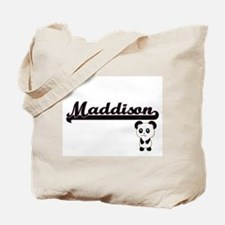Maddison Classic Retro Name Design with P Tote Bag
