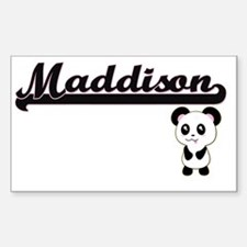 Maddison Classic Retro Name Design with Pa Decal
