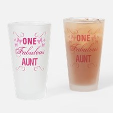 One Fabulous Aunt Drinking Glass