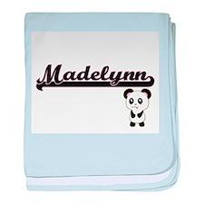 Madelynn Classic Retro Name Design wi baby blanket