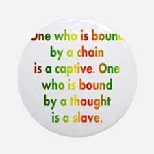African American saying Ornament (Round)