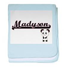 Madyson Classic Retro Name Design wit baby blanket