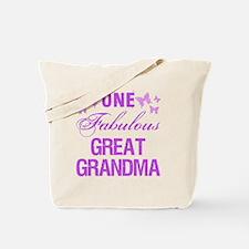 One Fabulous Great Grandma Tote Bag