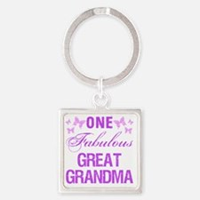 One Fabulous Great Grandma Square Keychain