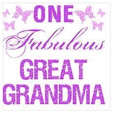 One Fabulous Great Grandma Poster
