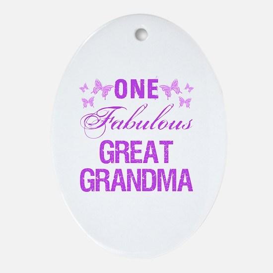 One Fabulous Great Grandma Oval Ornament