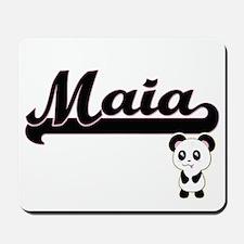Maia Classic Retro Name Design with Pand Mousepad