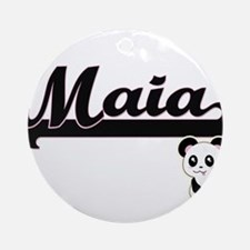 Maia Classic Retro Name Design wi Ornament (Round)