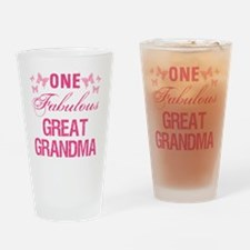 One Fabulous Great Grandma Drinking Glass