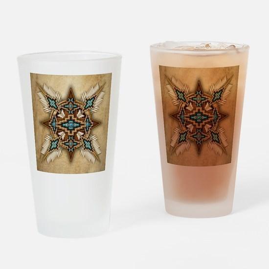 Native American Style Mandala 26 Drinking Glass