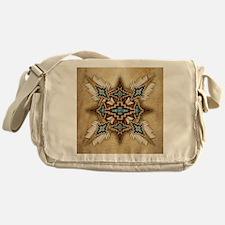Native American Style Mandala 26 Messenger Bag