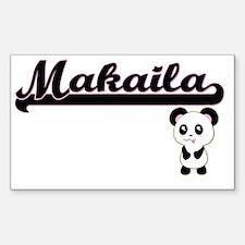 Makaila Classic Retro Name Design with Pan Decal