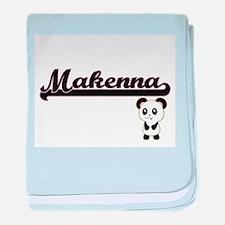 Makenna Classic Retro Name Design wit baby blanket
