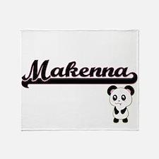 Makenna Classic Retro Name Design wi Throw Blanket