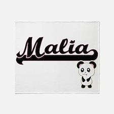 Malia Classic Retro Name Design with Throw Blanket