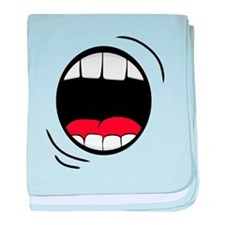 Halloween Monster Mouth baby blanket