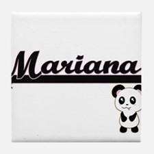 Mariana Classic Retro Name Design wit Tile Coaster
