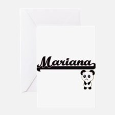 Mariana Classic Retro Name Design w Greeting Cards