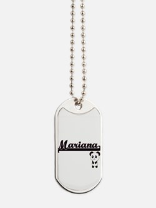 Mariana Classic Retro Name Design with Pa Dog Tags