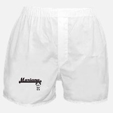 Mariana Classic Retro Name Design wit Boxer Shorts