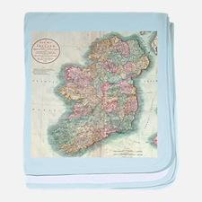 Vintage Map of Ireland (1799) baby blanket