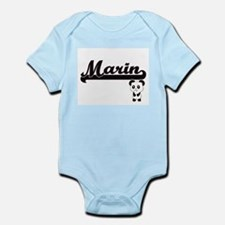 Marin Classic Retro Name Design with Pan Body Suit