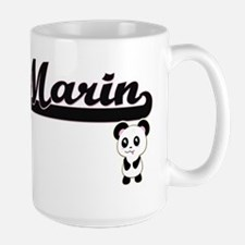 Marin Classic Retro Name Design with Panda Mugs